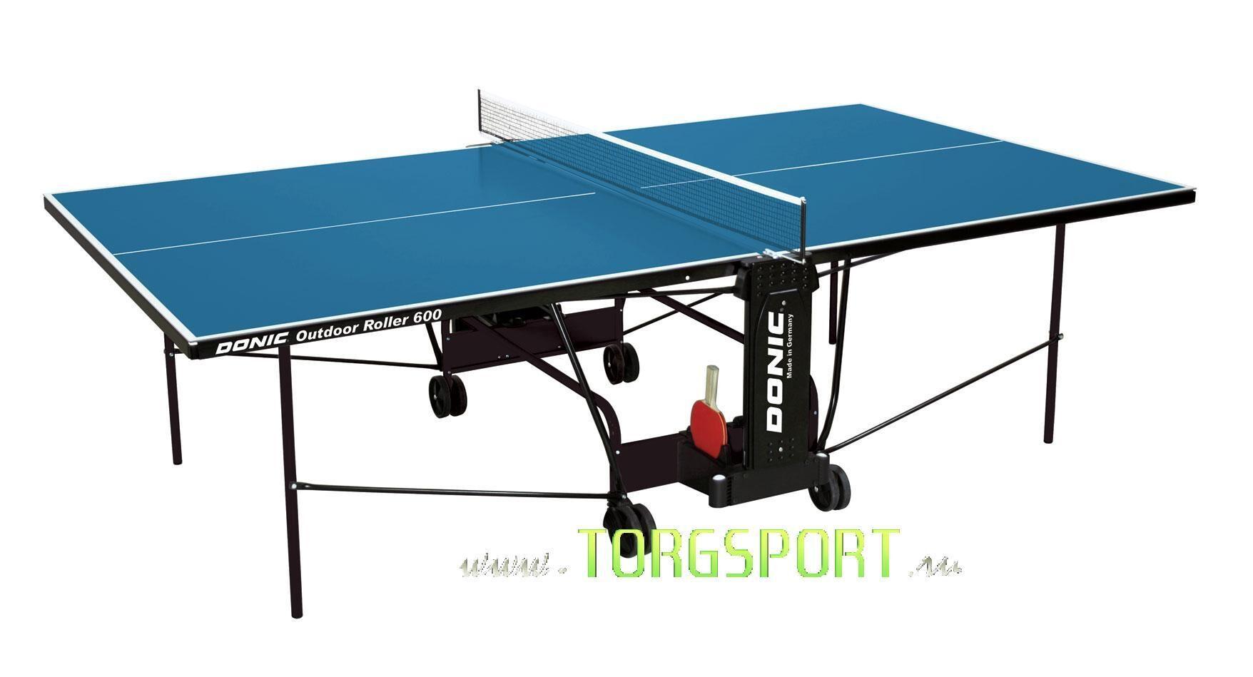 Всепогодный Теннисный стол Donic Outdoor Roller 600 blue 230293-B