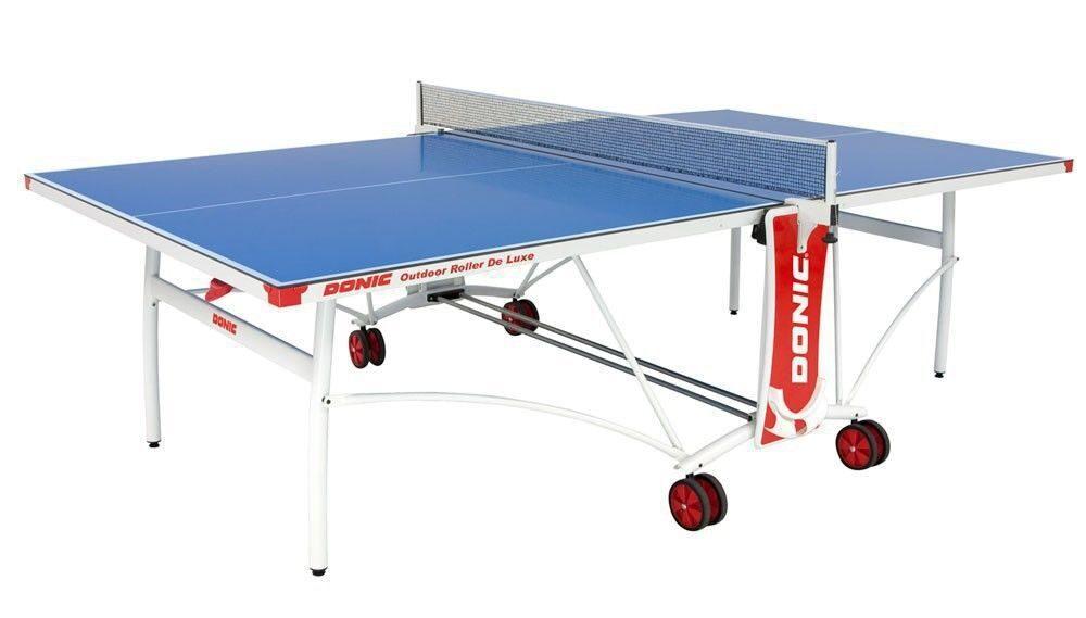 Всепогодный теннисный стол Donic Outdoor Roller De Luxe синий 230232-B