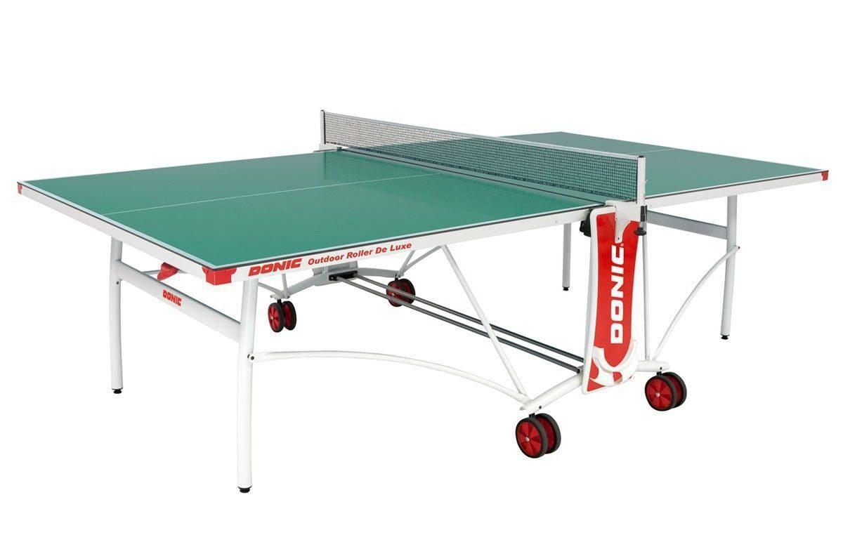 Всепогодный теннисный стол Donic Outdoor Roller De Luxe зеленый 230232-G