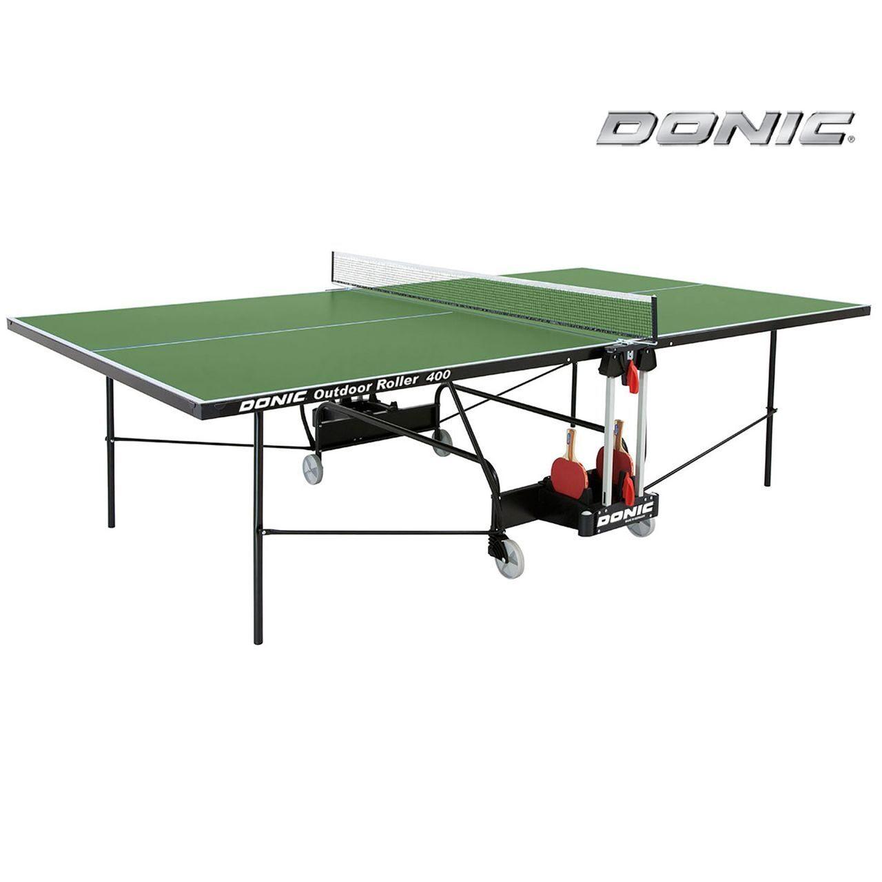 Всепогодный теннисный стол Donic Outdoor Roller 400 зеленый 230294-G