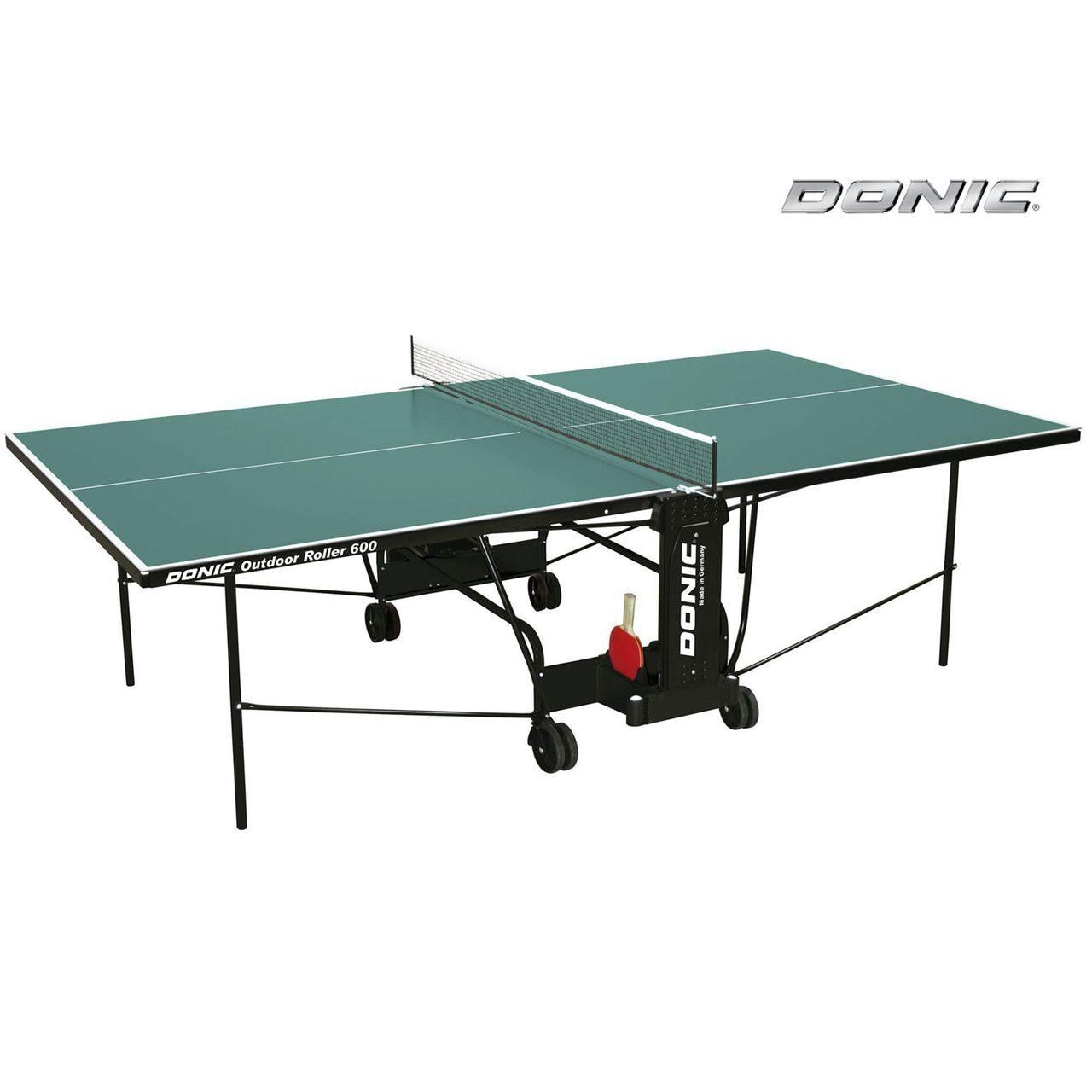 Всепогодный теннисный стол Donic Outdoor Roller 600 green 230293-G